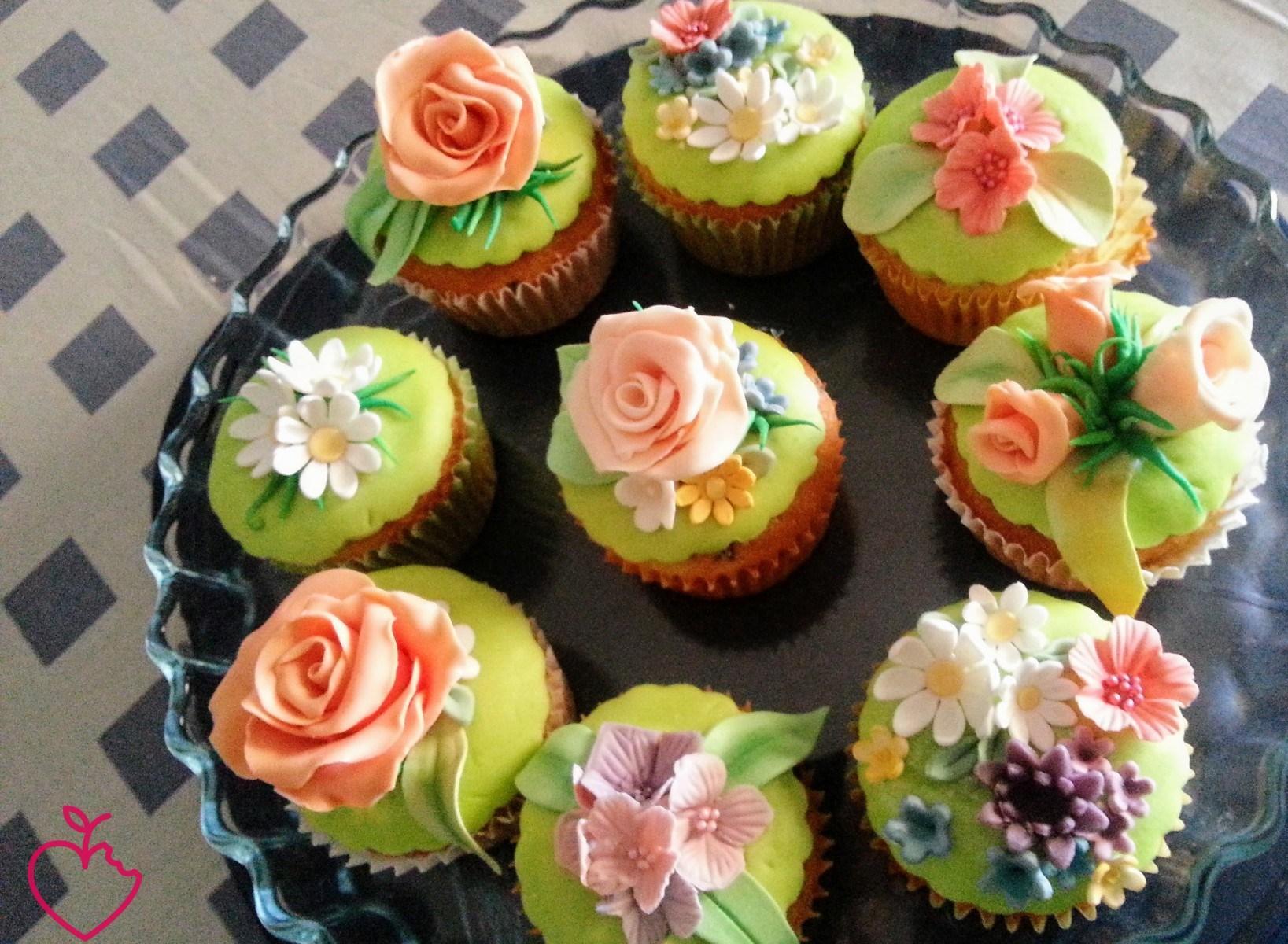 Cupcakes in fiore per la mia nonna