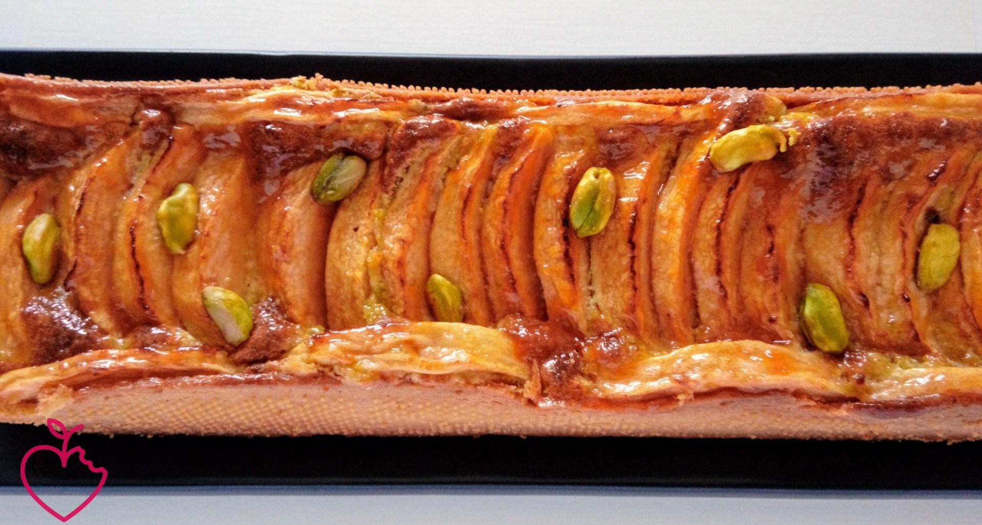 crostata frangipane pistacchio mele