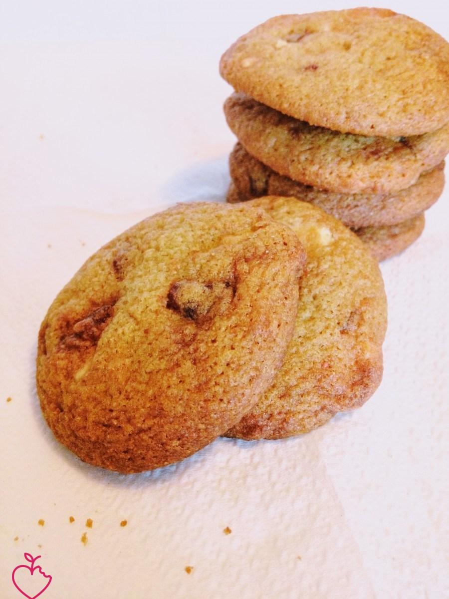 Cookies cioccolato bianco, arancia e fragole
