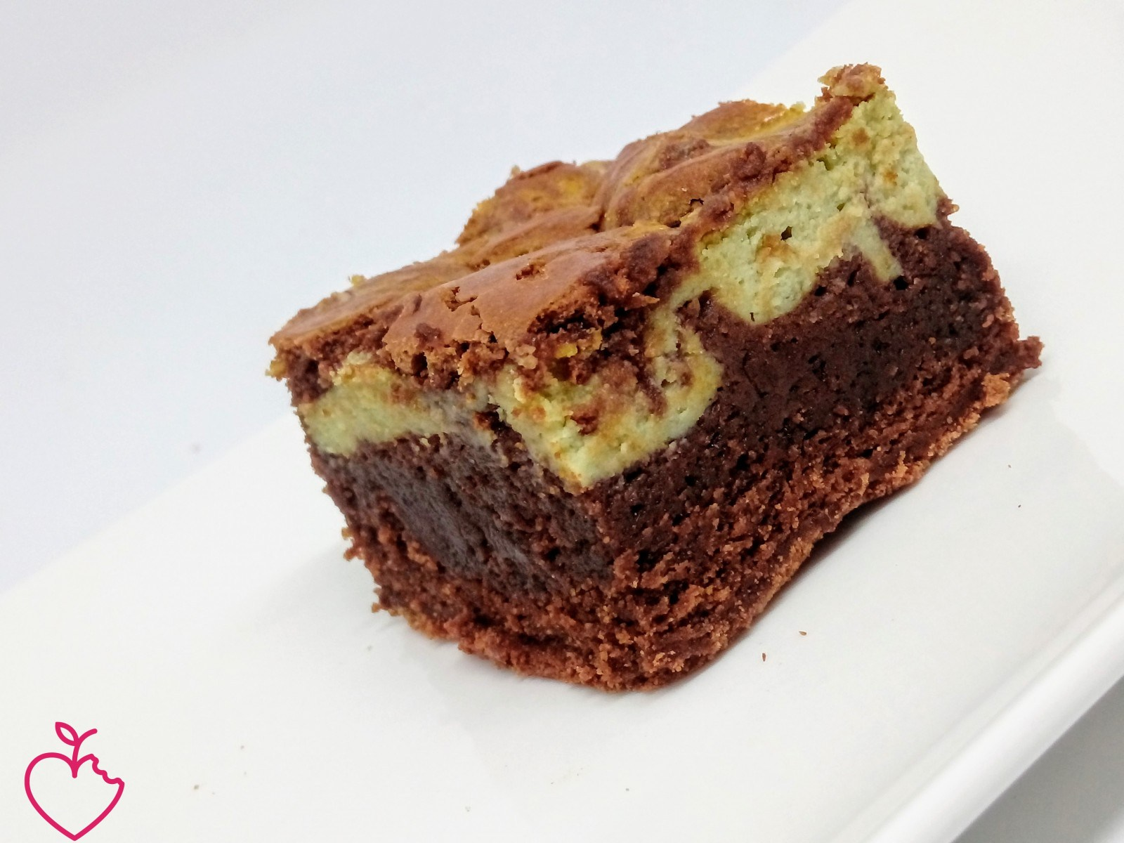 Brownies cheesecake al pistacchio